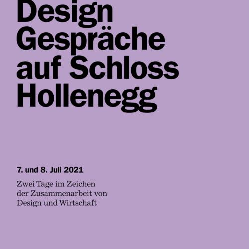 Einladung österreichischen Designgesprächen auf Schloss Hollenegg am 7. und 8. Juli 2021